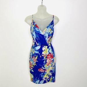 Yumi Kim Jayne Blue Hawaii Floral Dress Faux Wrap